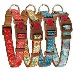 Collar ajustable nylon turquesa - varias medidas