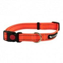 Collar reflectante huellas rojo - Rosewood
